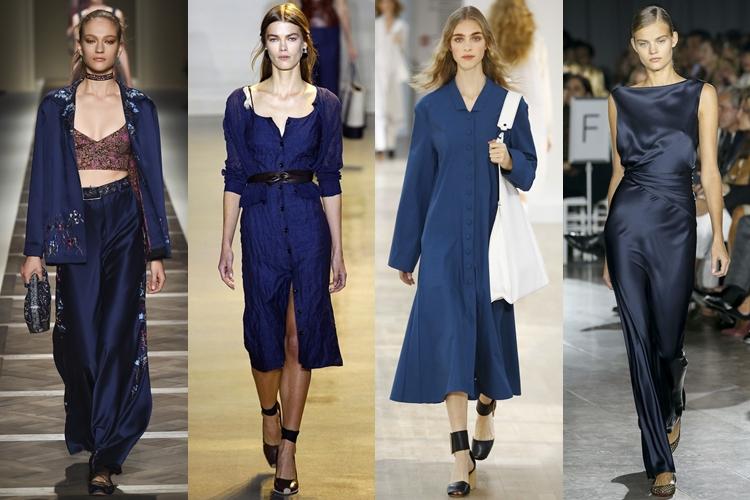 модные цвета весна-лето 2016 - темно-синий
