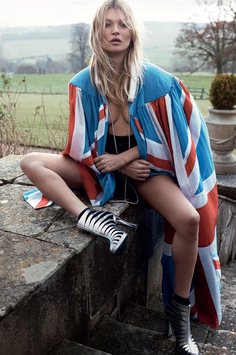Кейт Мосс Vogue UK (май 2016) фото 8