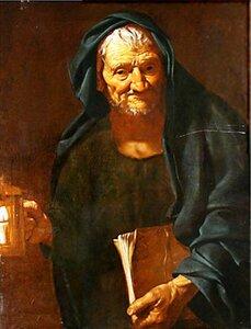 Диоген с фонарем. Pietro Bellotti (1625-1700, Italy) ..JPG