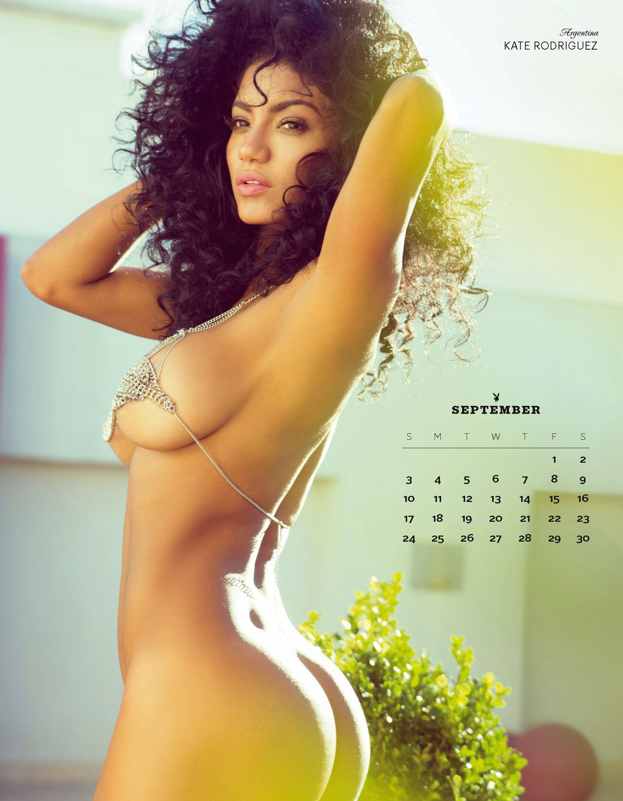 Playboy USA 2017 Official Calendar - Playmates Around the World - Kate Rodrigues | Argentina