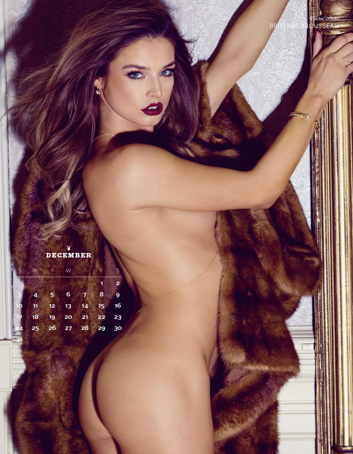 Playboy USA 2017 Official Calendar - Playmates Around the World - Brittany Brousseau | United States