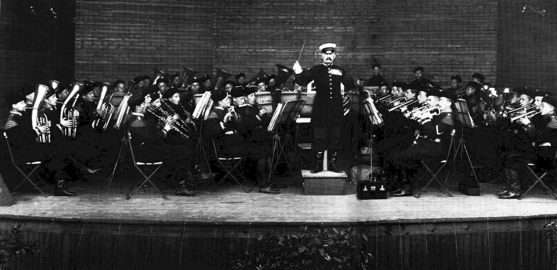 1913. Выступление оркестра 4-го стрелкового императорской фамилии батальона