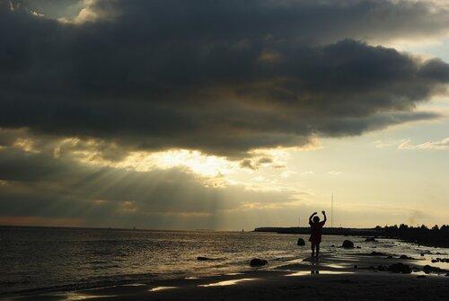 Закат в парке трехсотлетия, август 2011