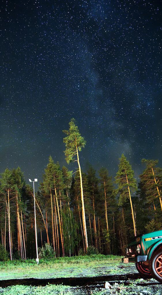 Млечный путь снят на парковке Евразии