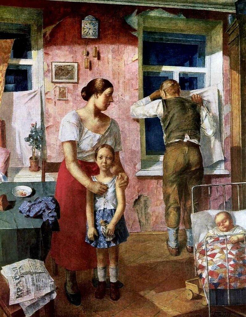 Петров-Водкин, 1919 год. Тревога. 1934г.