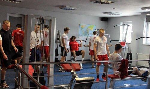 Тренировка ХК «Спартак» на сборе в Словакии