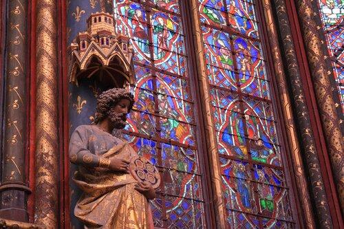 Верхняя капелла часовни Сен-Шапель в Париже