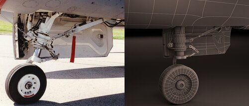 3D-модель самолета F-16