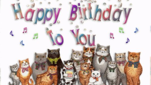 Lovely greeting card happy birthday online