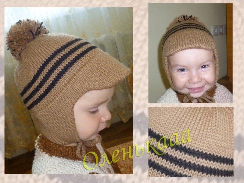 Вязание шапки с ушками вязальной машине