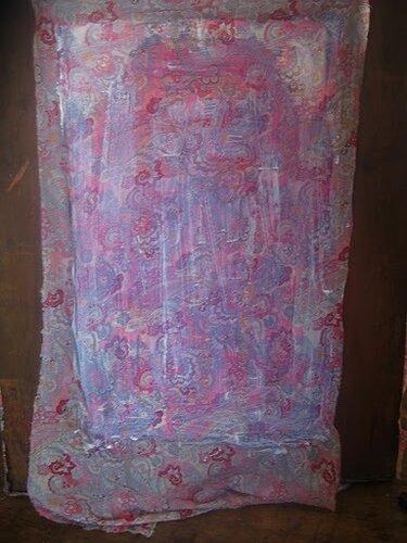 Зеркало декорированное тканью