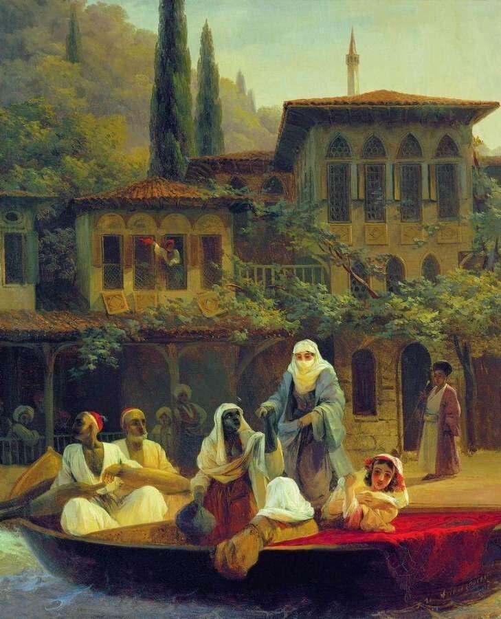 Айвазовский Иван Константинович. Восточная сцена (В лодке). 1846