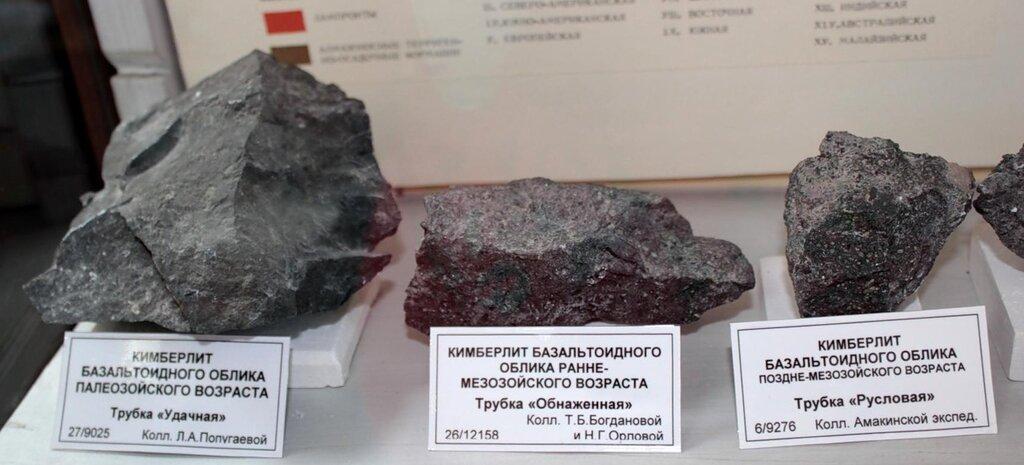 Кимберлит базальтоидного облика палеозойского возраста; кимберлит базальтоидного облика раннемезозойского возраста; кимберлит базальтоидного облика позднемезозойского возраста