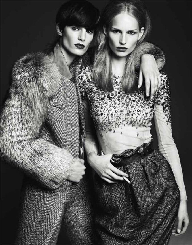 модель Ирис Струбеггер и Катрин Торманн / Iris Strubegger and Katrin Thormann, фотограф Gregory Harris