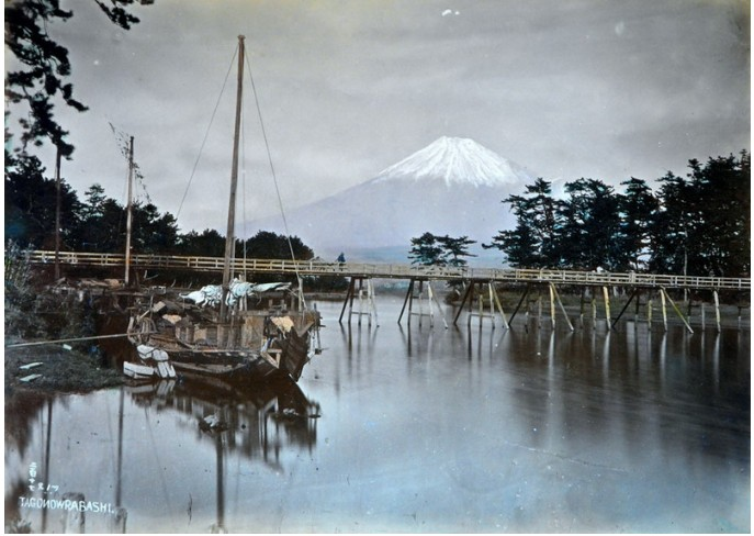 Древние фотографии с видами Японии