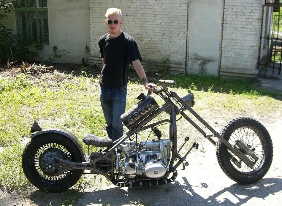 Как самостоятельно сделать мотоцикл 430