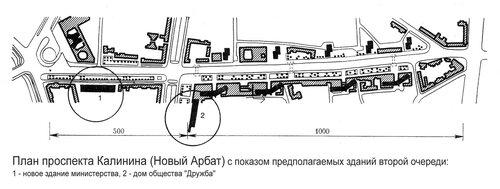 План проспекта Калинина (Новый Арбат), генплан