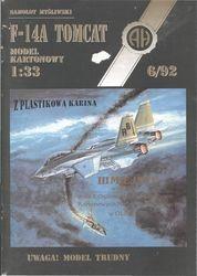 Журнал Журнал F-14A Tomcat-Halinski Kartonowy Arsenal (6`1992)