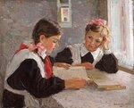 Домашняя работа (худ. В. Серов, 1956)
