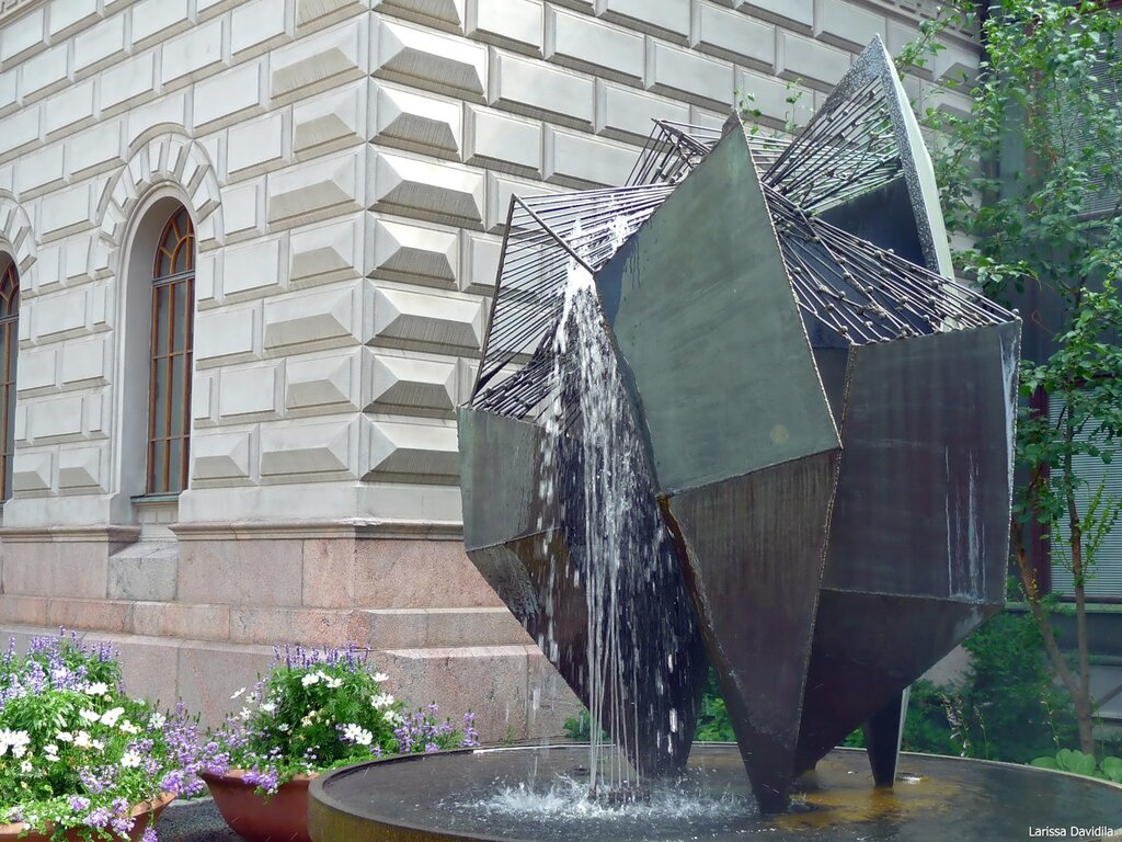 "Фонтан-скульптура ""Бронзовая конструкция"", 1961 г."