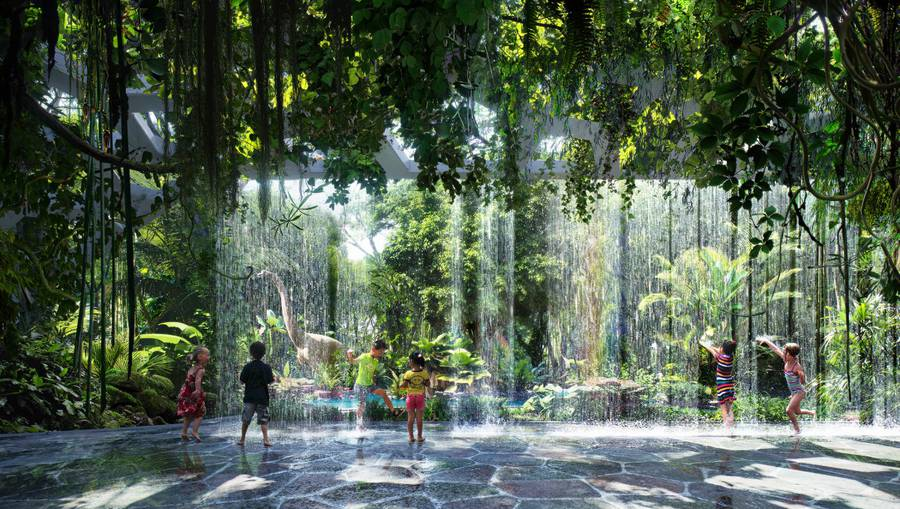 World's First Luxury Hotel with A Rainforest and Artificial Beach