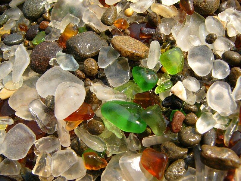 Стеклянный пляж, Форт Брэгг, Калифорния/Glass Beach, Fort Bragg, California