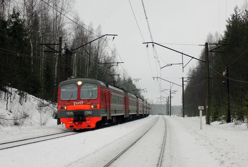 ЭД4М-0360 на перегоне Васкелово - Орехово