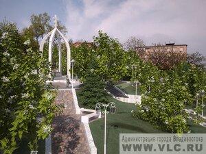 Во Владивостоке продолжается реконструкция сквера Муравьева-Амурского