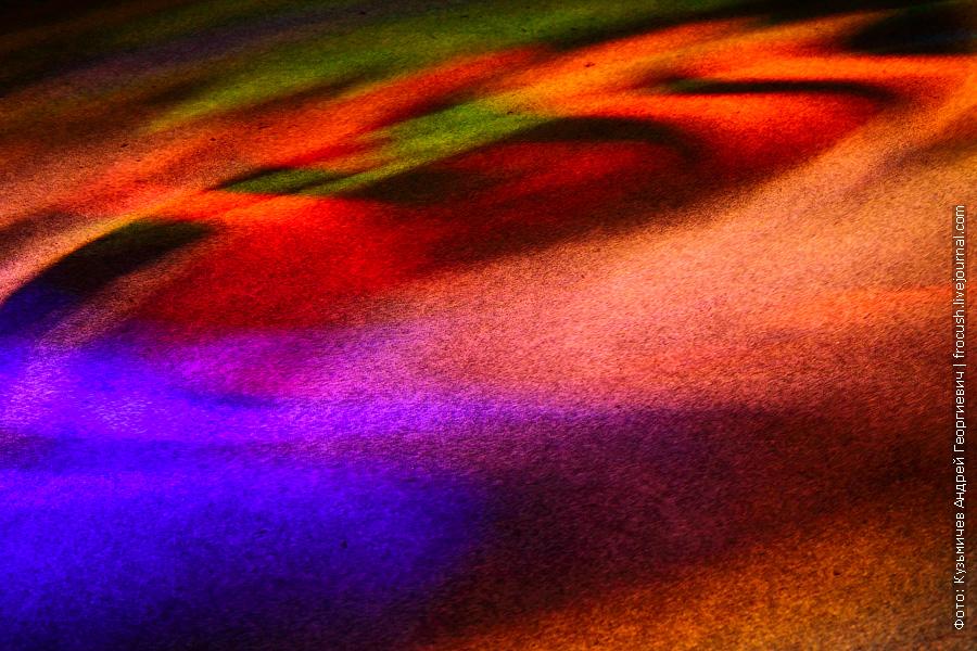 пол киноконцертного зала в кормовой части шлюпочной палубы во время ночной дискотеки