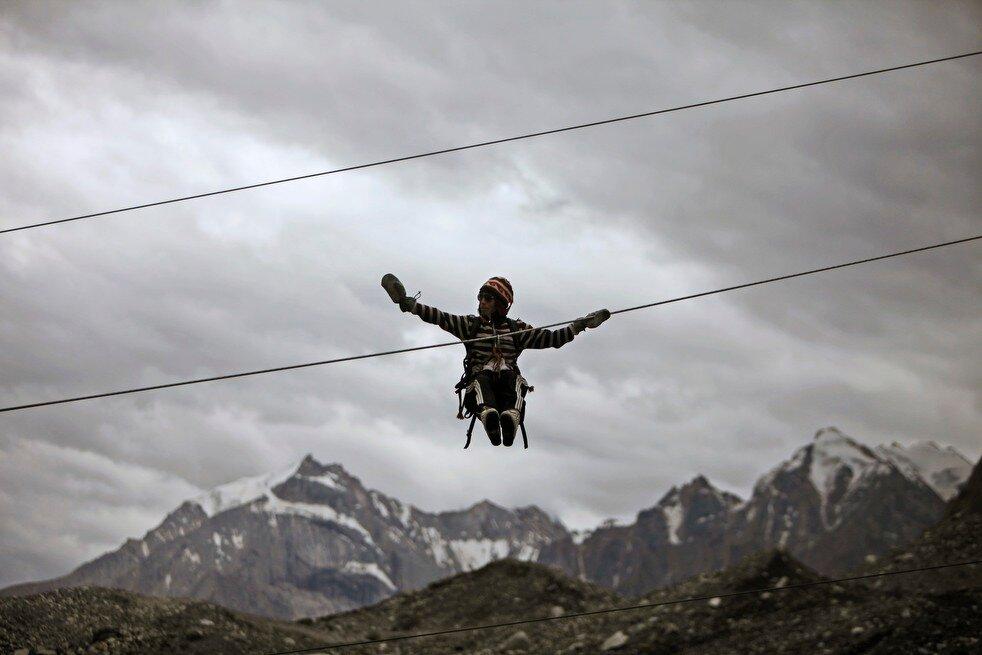 APTOPIX India Kashmir Glacier