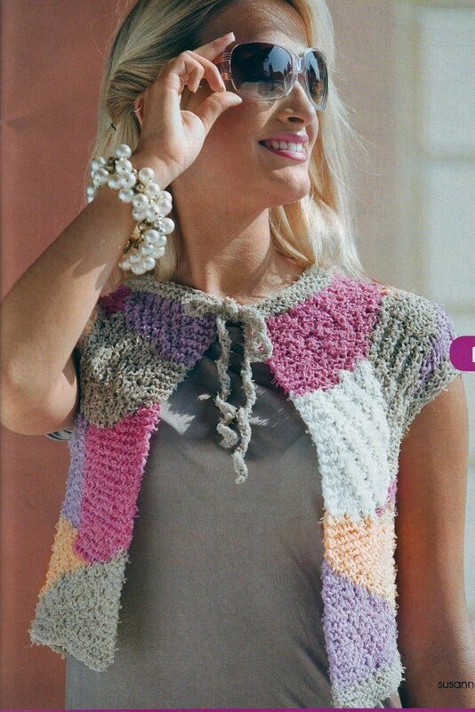 Knitting Pattern Patchwork Cardigan : Patchwork Cardigan, free knitting patterns