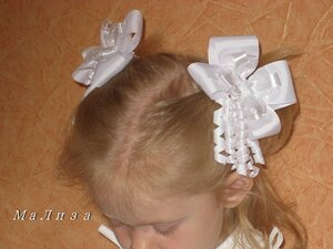 Бантики в школу для волос