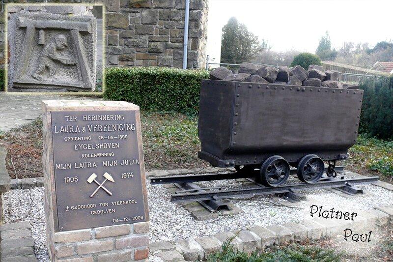 Памятник шахтерам в Айгельсхофене (Ниднрланды), январь 2008г.
