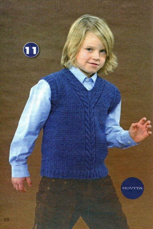 """Скоро 1... Название: Вязание модно и просто.  Вяжем детям.  Спецвыпуск 8 2011  """"Модели для школьников """" Автор..."""