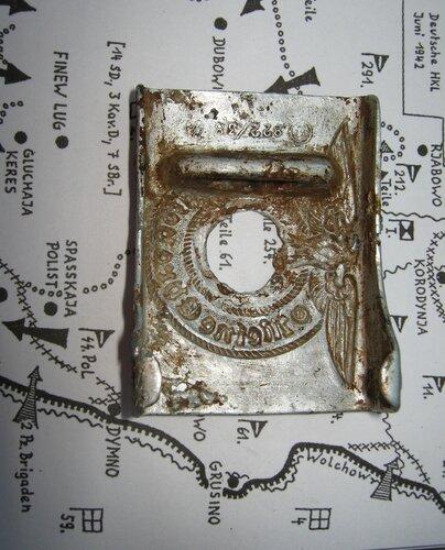 Найденная пряжка. На карте боевых действий