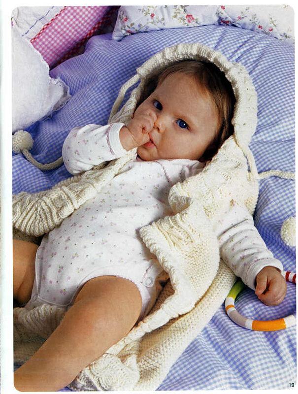 Вязание малышам конверт