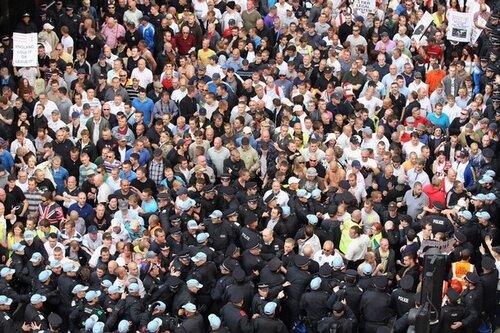 EDL Members Demonstrate In Tower Hamlets