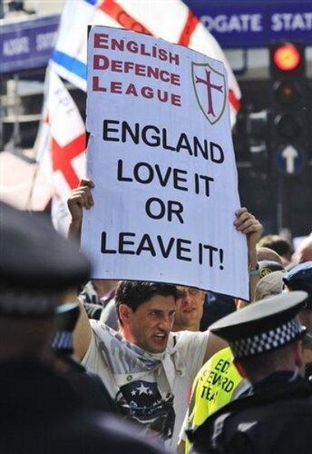 Britain Far Right Protest