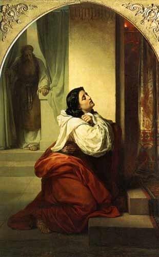 Каталог картин.  Молитва Анны.  Воспитание Самуила 2:21-2:36.