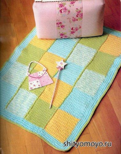 Вязание крючком для начинающих: детский коврик