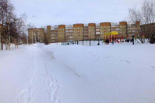 Фото города Инта №7493  Дзержинского 23 и 21а (забор спортивной площадки СОШ №8) 18.02.2015_14:47