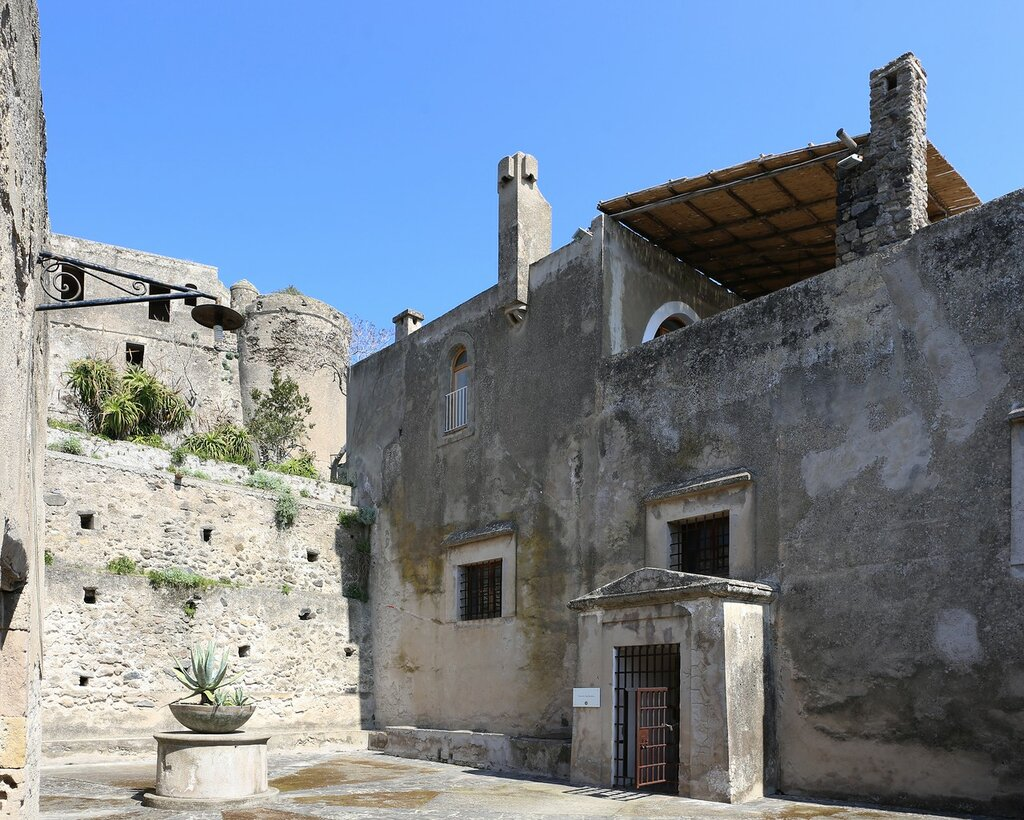 Ischia, the Aragonese castle. The Bourbon prison