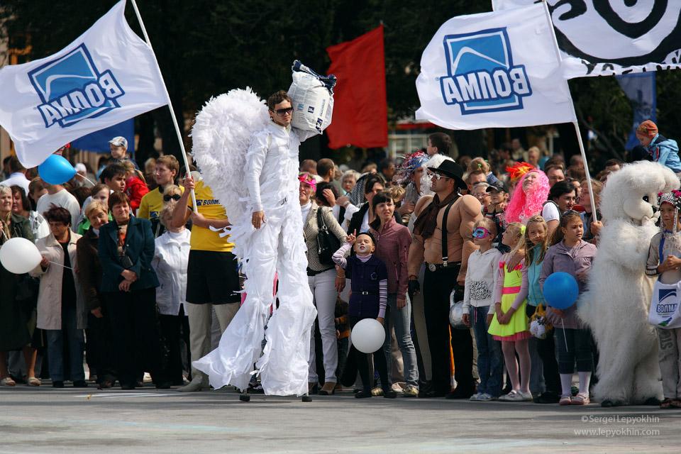 День города. Карнавал в Волгограде.