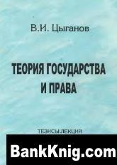 Книга Теория государства и права. Тезисы лекций. djvu / zip 3,28Мб