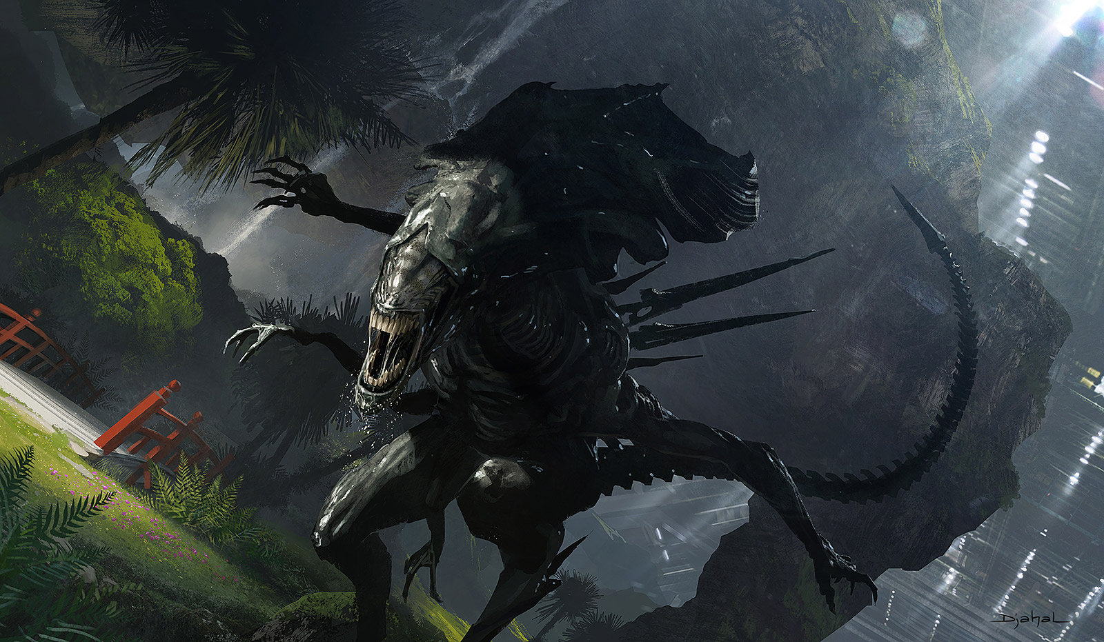 Alien 5 Neill Blomkamp Film Project Concept Art by Geoffroy Thoorens
