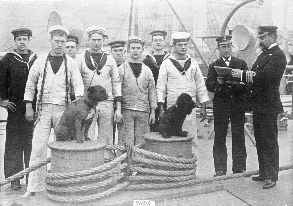 A quarterdeck scene on board HMS 'Trafalgar' at Malta