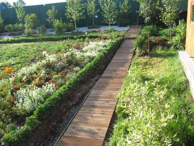 Садовые дорожки из доски своими руками фото 68