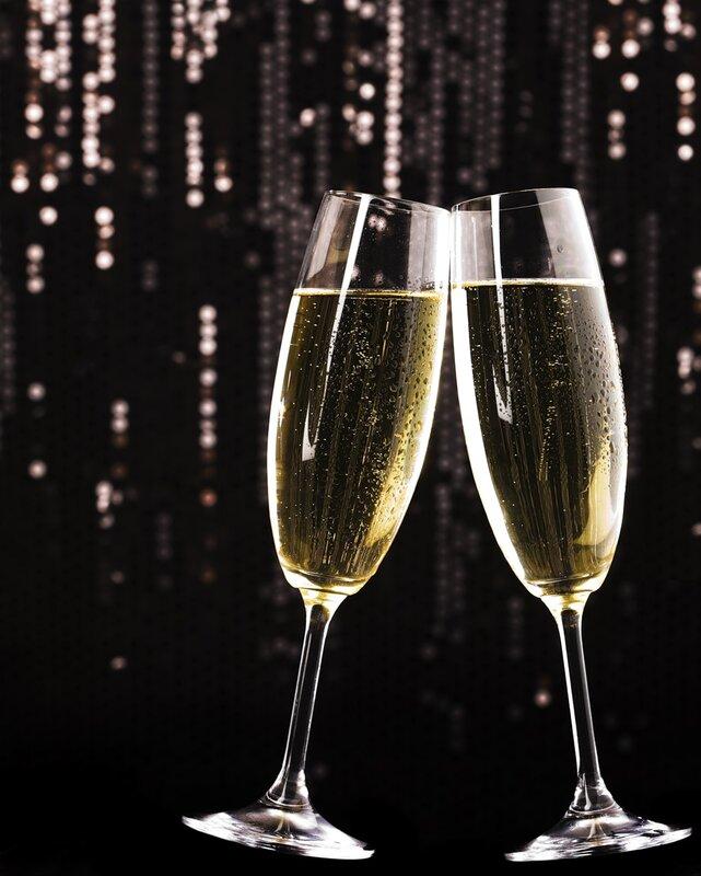 Анимация с бокалом шампанского, женские