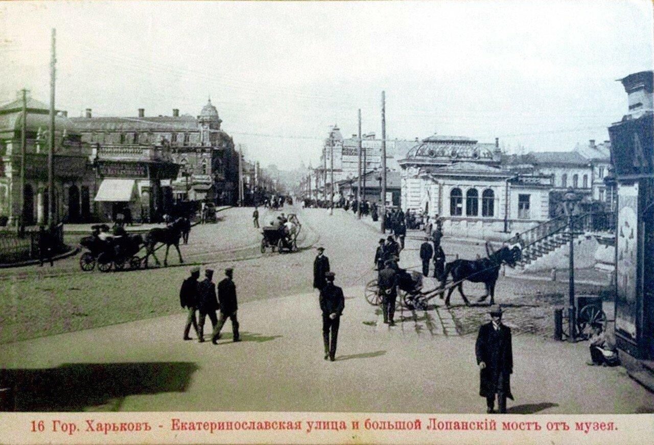Вид на Екатеринославскую улицу от Университетской горки