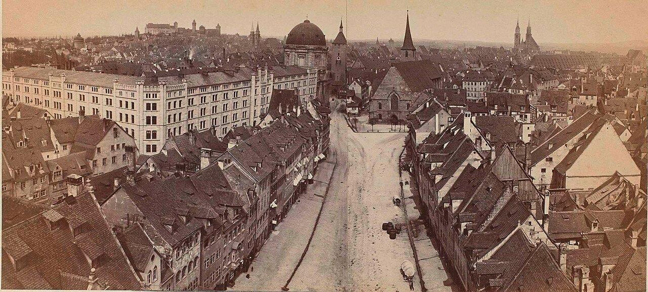 1860. Панорама Нюрнберга